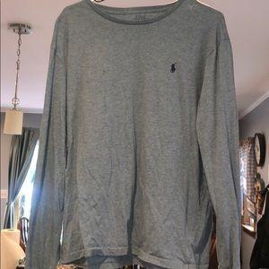 Men's long sleeve Polo crewneck shirt